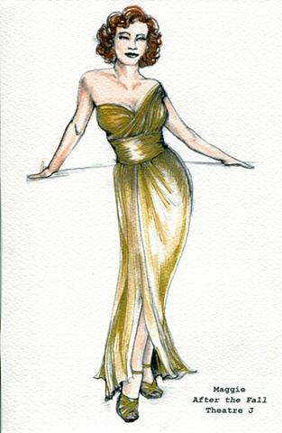 Maggie Gold dress