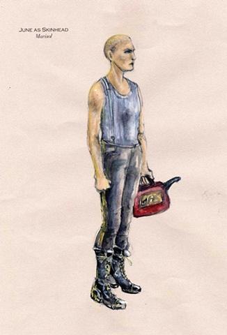 June as a skinhead