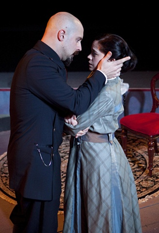 Irina and Solyony in Act II