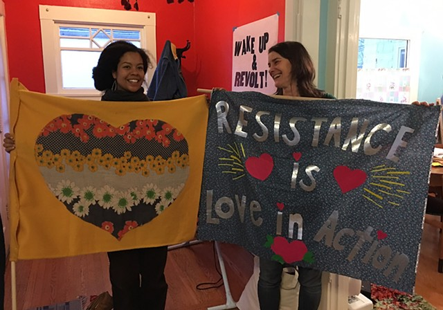 Protest Curtains Craftivism Resist