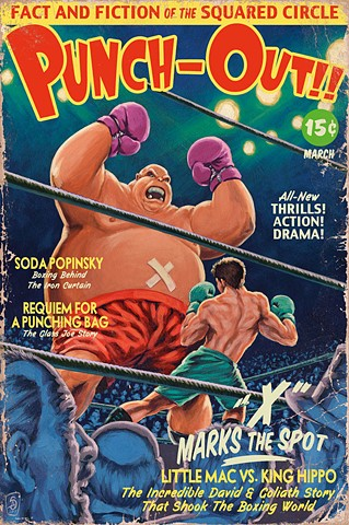 X Marks The Spot print by Stephen Andrade Punch-Out vintage boxing pulp Gallery1988 g1988 2017