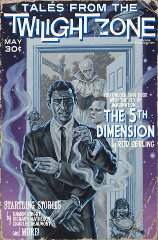 Tales From The Twilight Zone vintage pulp edition print by Stephen Andrade 2016 Rod Serling Gallery1988 G1988 Idiot Box