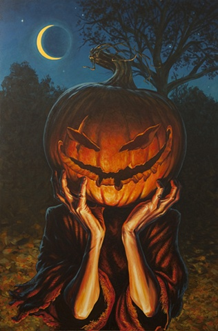 Halloween jack o'lantern painting by Stephen Andrade