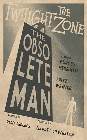 twilight zone the obsolete man poster print by stephen andrade art