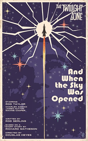 twilight zone and when the sky was opened poster print by stephen andrade art