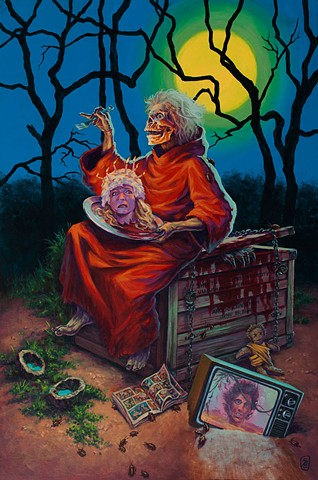 Creepy Stories by Stephen Andrade Creepshow painting print Stephen King Gallery1988 g1988