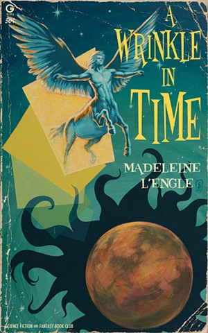 A Wrinkle In Time Madeleine L'Engle painting print by Stephen Andrade Gallery1988 g1988 tree and rock 2016