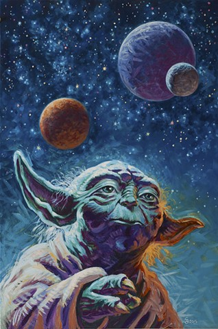 Luminous Beings Are We painting by Stephen Andrade Gallery1988 g1988 Star Wars Art Awakens Yoda