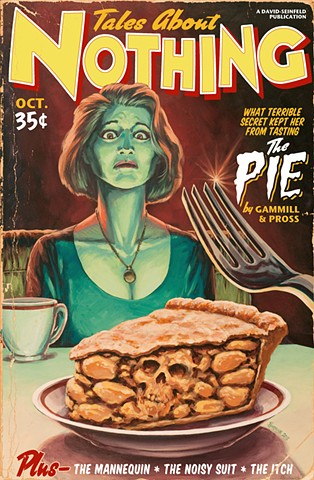 """Tales About Nothing"" print by Stephen Andrade Seinfeld Gallery1988 2015 ""the pie"""