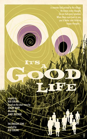 twilight zone it's a good life poster print by stephen andrade art