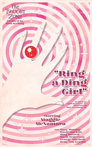 twilight zone ring-a-ding girl poster print by stephen andrade art