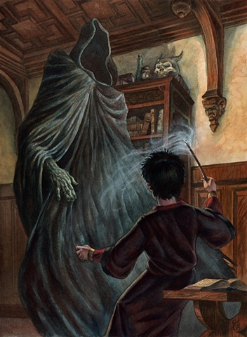 "Harry Potter and Dementor from ""Harry Potter"" series of paintings by Stephen Andrade"