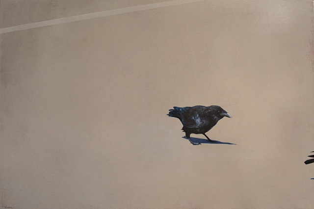 painting of crows