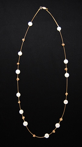 """Falling Snow Drops Necklace"""