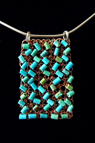prisha brown wire crochet entwine jewelry