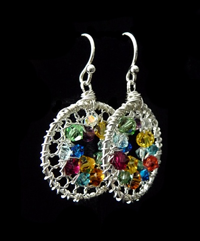 Kathleen's Rainbow Geode Earrings