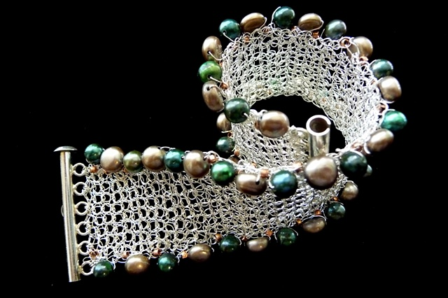 prisha brown wire crochet jewelry entwine: