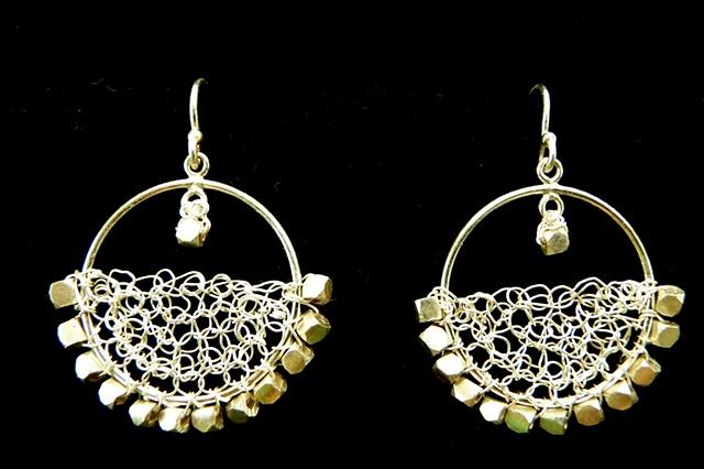 prisha brown wire crochet jewelry