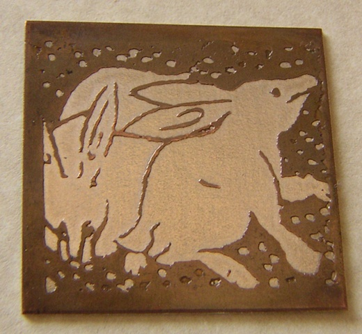 """Etched Rabbits"""