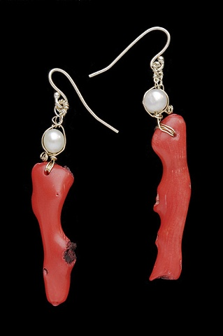"""Branch Coral Earrings"""
