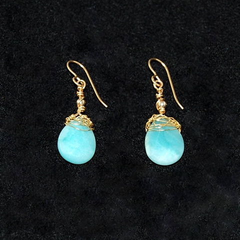 """Amazonite Earrings"""