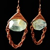 Copper and Citrus Fluorite Earrings