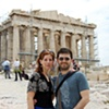 """With Jon at the Parthenon in Athens"""