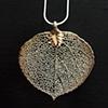 Silver Aspen Leaf Pendant