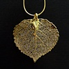 Gold Aspen Leaf Pendant