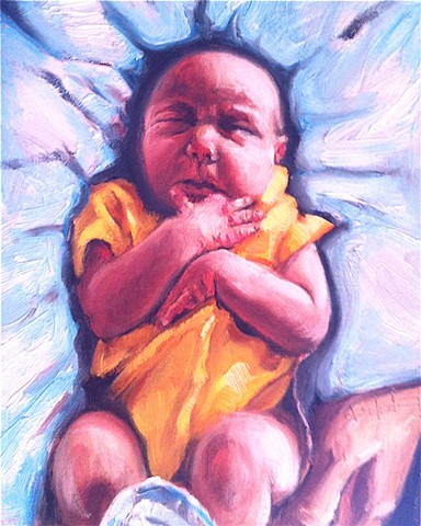 Newborn's portrait for client's girlfriend