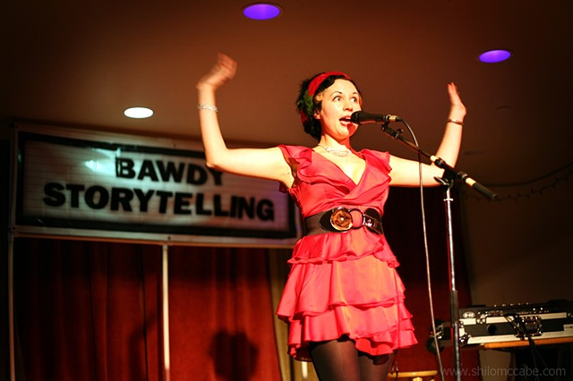 "Bawdy Storytelling: ""Dick in a Box"" Dec 2010 at The Blue Macaw, SF"