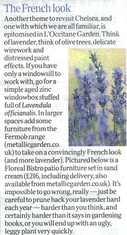 The Times feature - 'The French Look'