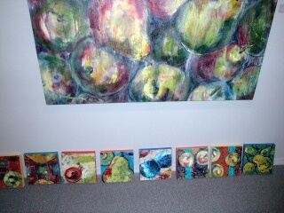 small pear paintings - most in collection of DONNA's
