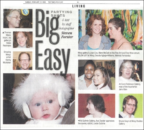 Times-Picayune photo coverage of the Feb 2006 opening reception
