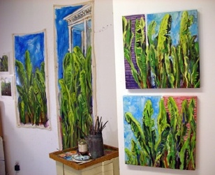 studio - paintings in progress