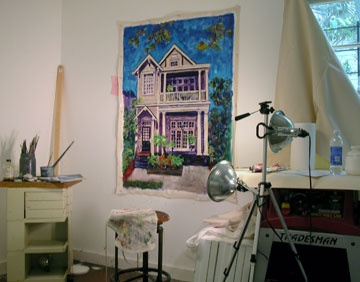 First commission painting in my studio at MOXY