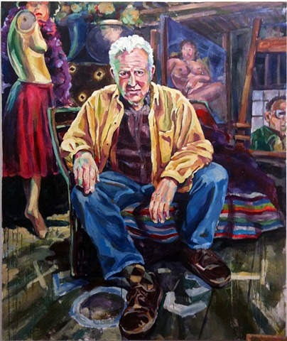 Portrait of Paul Moscatt, artist and mentor