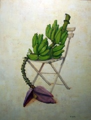Bananas on chair by Michael Guidry