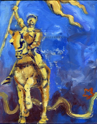Joan of Arc Yellow -small painting