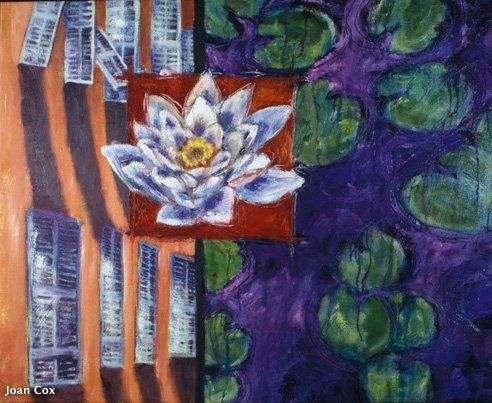 Water Lily with French shutters