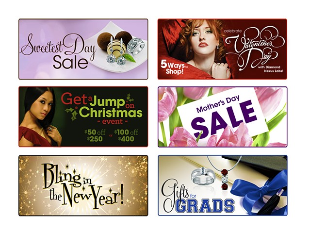 Diamond Nexus Labs  Sale/Holiday Web-Systems Banners  October 2010-May 2011