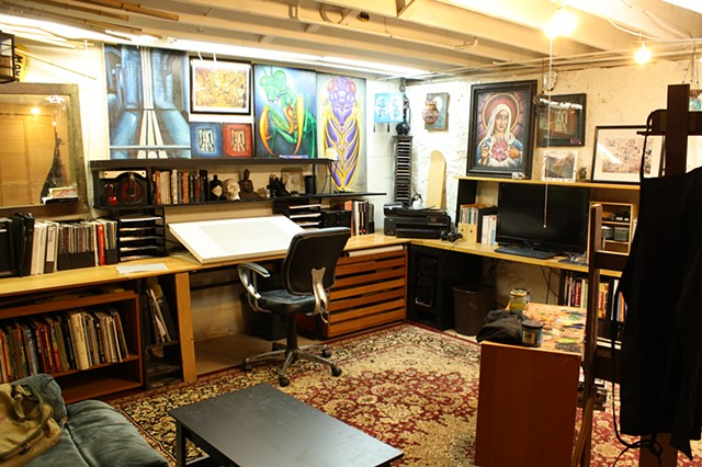 my basement painting studio