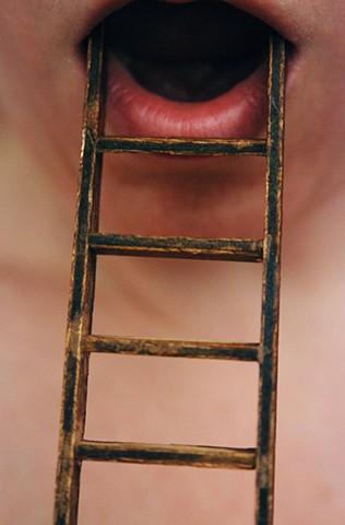 photography body miniatures toys ladder mouth
