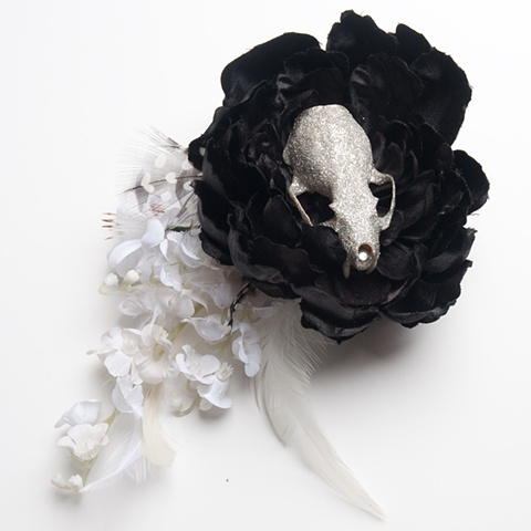 hair skull fascinator