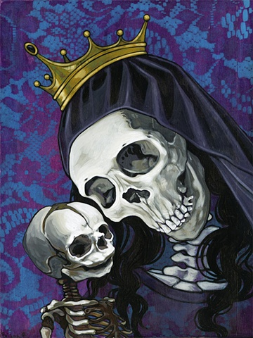 Santa Muerte and Child