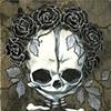 mini memento mori - black roses