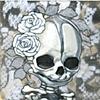 mini memento mori - white roses