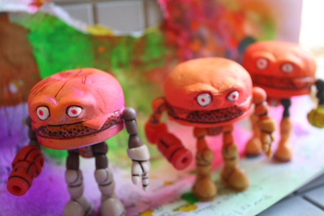 "hamburger hurter rex ganon subcultures art of the action figure jesse destasio byron abregado glyos onell ""glyos hamburger"" dodger billy burger dad"