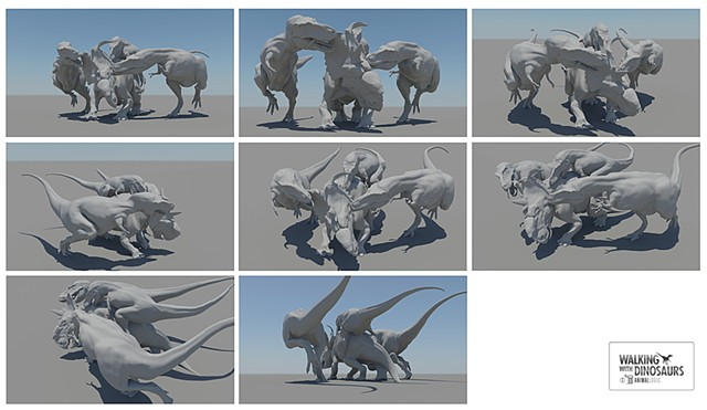 wwd 3d movie gorgosaurus attack  range of motion