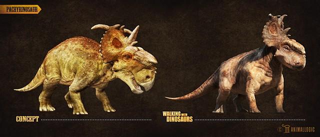 pachyrinosaur adult: Walking with dinosaurs 3d movie